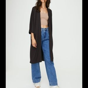 Wilfred free Zlata long open front cardigan.